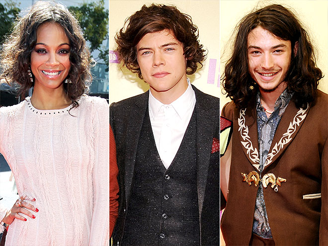 ZOË, HARRY & EZRA photo | Ezra Miller, Harry Styles, Zoe Saldana