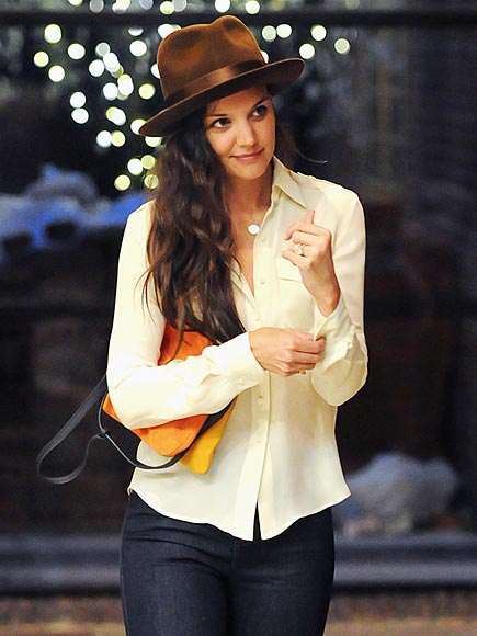 EVENING FEDORA photo | Katie Holmes