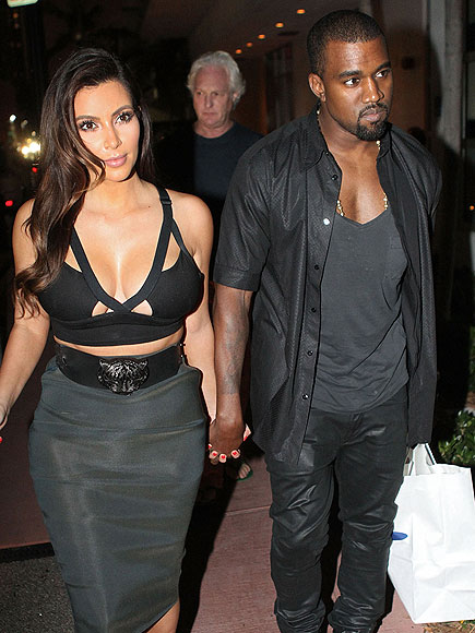 DÈCOLLETAGE DUO photo | Kanye West, Kim Kardashian