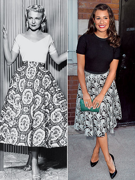 SKIRTING IT photo | Lea Michele, Peggy Lee