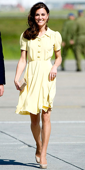 LEMONY YELLOW photo | Kate Middleton