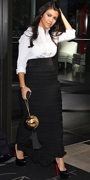 MAXI SKIRTS AND BUTTON-DOWNS photo | Kourtney Kardashian