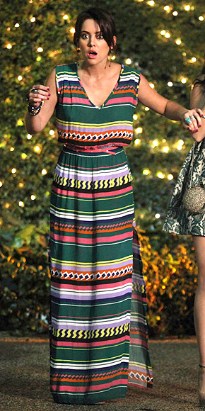 90210: ERIN'S PRINTED MAXI photo | Jessica Stroup