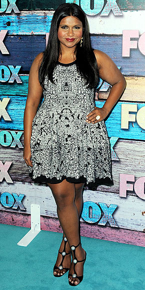 Mindy Kaling Legs http://rockitruby.wordpress.com/2012/07/28/stylin-saturday-11/