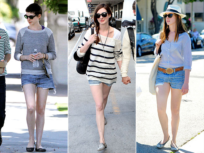 DENIM & SUPPLY SHORTS photo | Anne Hathaway