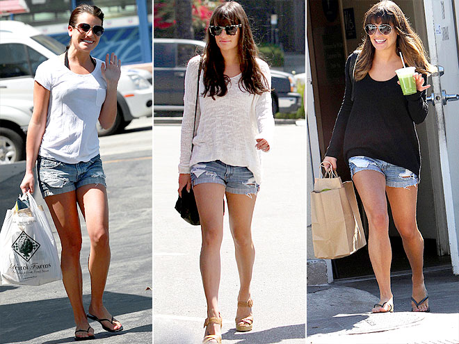 AG ADRIANO GOLDSCHMIED SHORTS photo | Lea Michele