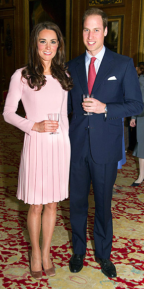 PRETTY IN PLEATS photo | Kate Middleton, Prince William
