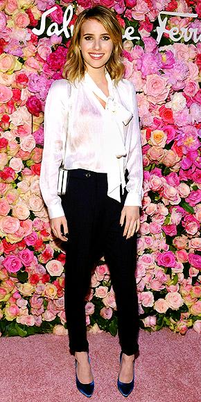 BOW BLOUSES photo   Emma Roberts