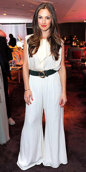 EXAGGERATED WIDE-LEG PANTS photo | Minka Kelly