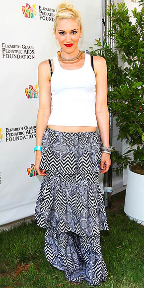 TIERED MAXI SKIRTS photo | Gwen Stefani