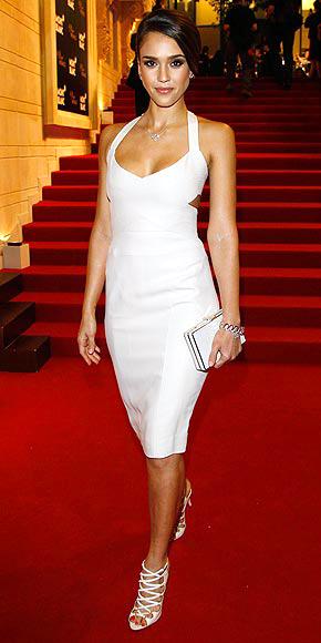 WHITE-ON-WHITE photo   Jessica Alba