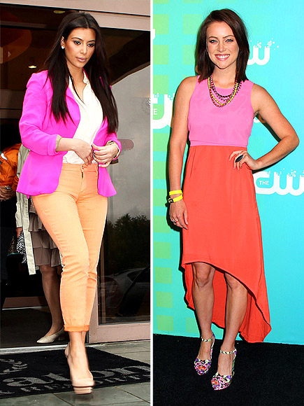 PINK AND ORANGE photo | Jessica Stroup, Kim Kardashian