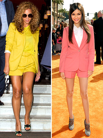BRIGHT SHORTS SUITS   photo | Beyonce Knowles