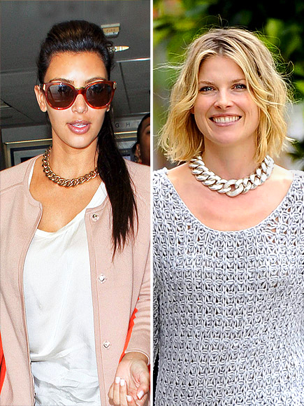 CHAIN-LINK NECKLACE  photo | Ali Larter, Kim Kardashian