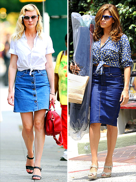 WAIST-TIED OXFORDS  photo | Eva Mendes, Kirsten Dunst