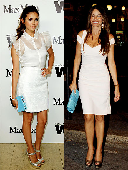 LWD WITH A TOUCH OF TURQUOISE photo | Nina Dobrev, Sofia Vergara