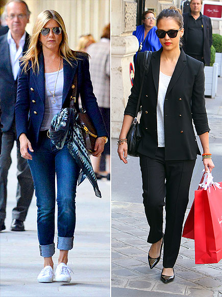 Trespassado Blazers foto | Jennifer Aniston, Jessica Alba