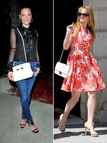 WHITE CROSSBODIES photo | Jaime King, Jennifer Lawrence