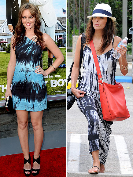 TIE-DYE DRESSES photo | Eva Longoria, Leighton Meester