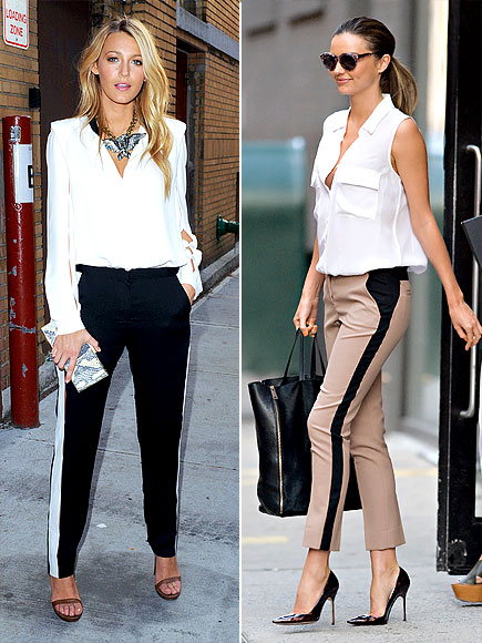 RACING-STRIPE PANTS photo | Blake Lively, Miranda Kerr