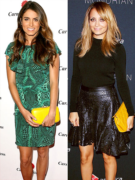 YELLOW CLUTCHES photo | Nicole Richie, Nikki Reed