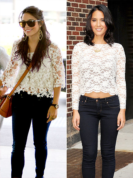 LACE TOPS photo | Olivia Munn, Vanessa Hudgens