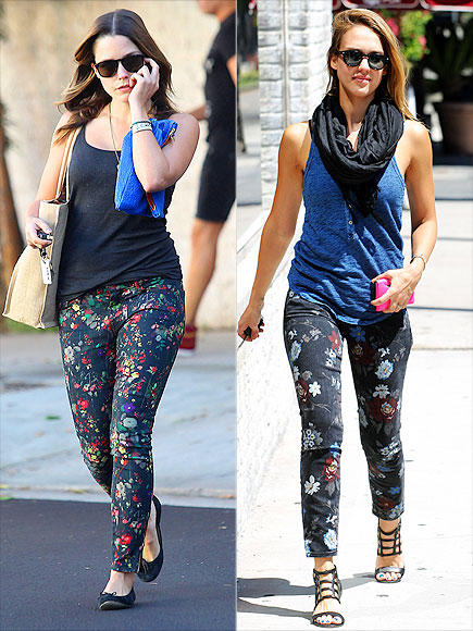 DARK FLORAL DENIM photo | Jessica Alba, Sophia Bush