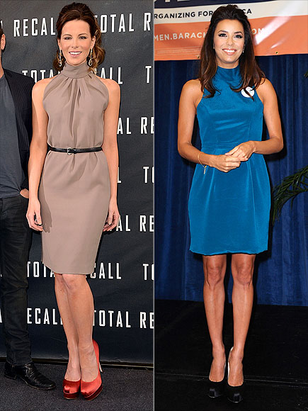 HIGH-NECK SHEATHS photo | Eva Longoria, Kate Beckinsale