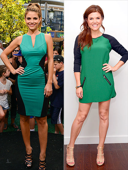 GREEN-AND-BLACK DRESSES photo | Maria Menounos, Tiffani Thiessen