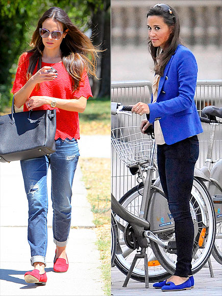 MATCHING TOP & LOAFERS photo | Jordana Brewster, Pippa Middleton