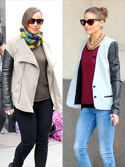 LEATHER-SLEEVE JACKETS photo | Alicia Keys, Olivia Palermo