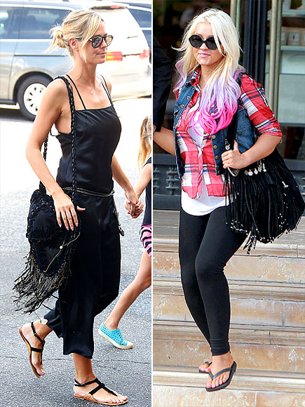 FRINGE BAGS photo | Christina Aguilera, Heidi Klum