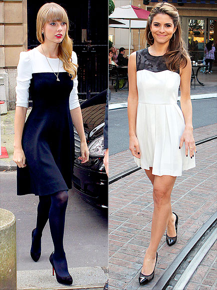 BLACK-AND-WHITE DRESSES photo | Maria Menounos, Taylor Swift