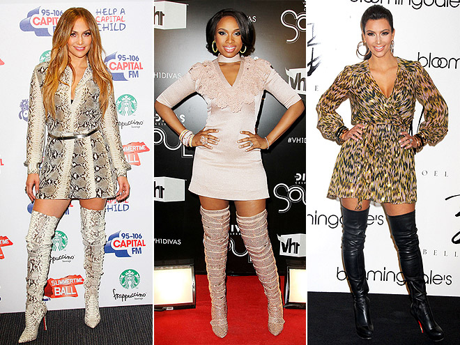 LONG-SLEEVE MINIS & MAJOR BOOTS photo | Jennifer Hudson, Jennifer Lopez, Kim Kardashian