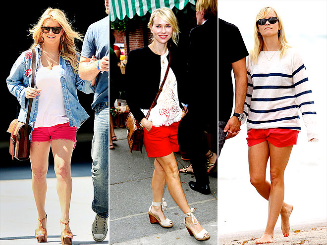 RED SHORTS photo | Jessica Simpson, Naomi Watts, Reese Witherspoon