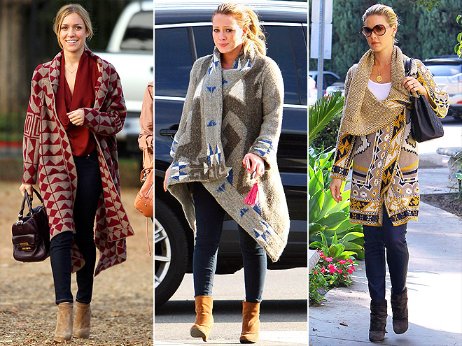 TRIBAL-PRINT COAT photo | Hilary Duff, Katherine Heigl, Kristin Cavallari