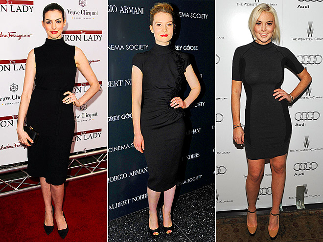 MOCK-TURTLENECK LBDS photo | Anne Hathaway, Lindsay Lohan, Mia Wasikowska