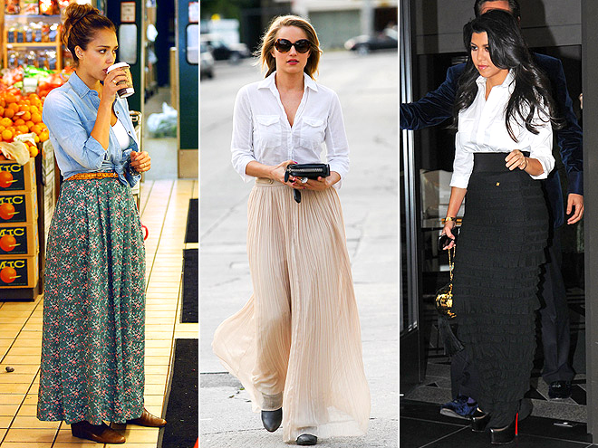 MAXIS AND BUTTON-DOWNS photo | Dianna Agron, Jessica Alba, Kourtney Kardashian