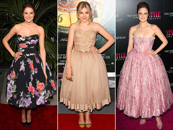 BALL GOWN SILHOUETTES photo | Andrea Riseborough, Chloe Moretz, Shailene Woodley