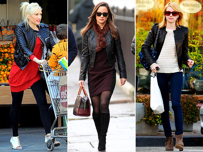 QUILTED LEATHER JACKETS photo | Emma Roberts, Gwen Stefani, Pippa Middleton