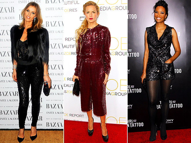 SEQUINED JUMPSUITS photo | Aisha Tyler, Eva Herzigova, Rachel Zoe