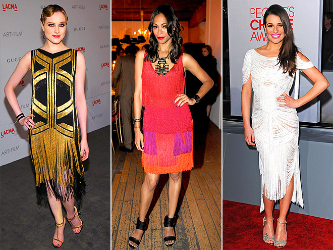 FLAPPER FROCKS photo | Evan Rachel Wood, Lea Michele, Zoe Saldana