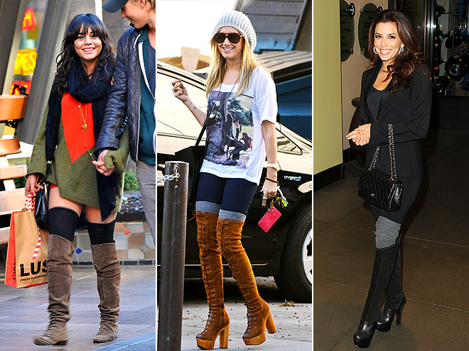 HIGH SOCKS AND BOOTS photo | Ashley Tisdale, Eva Longoria, Vanessa Hudgens