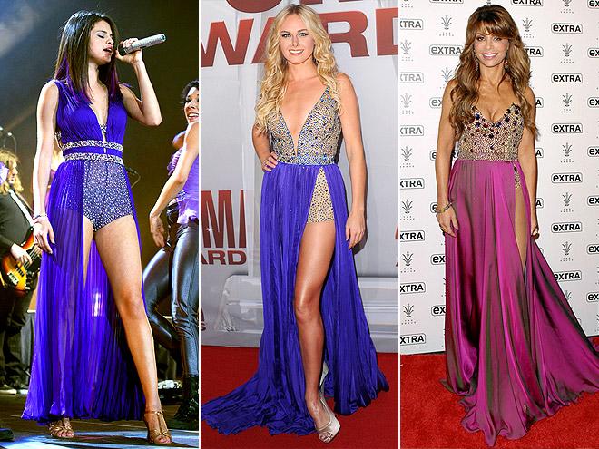"BODYSUIT ""GOWNS"" photo | Laura Bell Bundy, Paula Abdul, Selena Gomez"