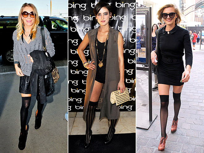 THIGH-HIGH TIGHTS photo | Eliza Coupe, Jessica Stroup, LeAnn Rimes