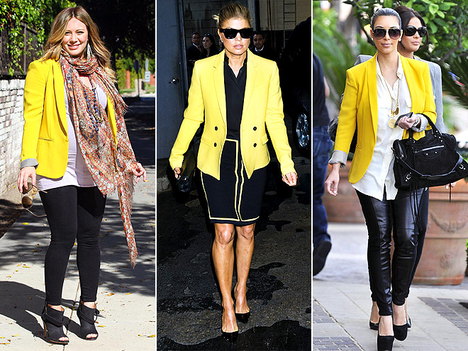 YELLOW BLAZERS photo | Fergie, Hilary Duff, Kim Kardashian