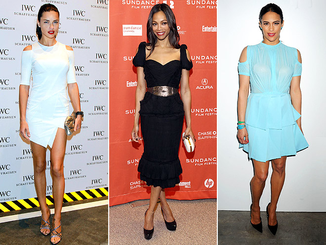 SHOULDER CUTOUTS photo | Adriana Lima, Paula Patton, Zoe Saldana