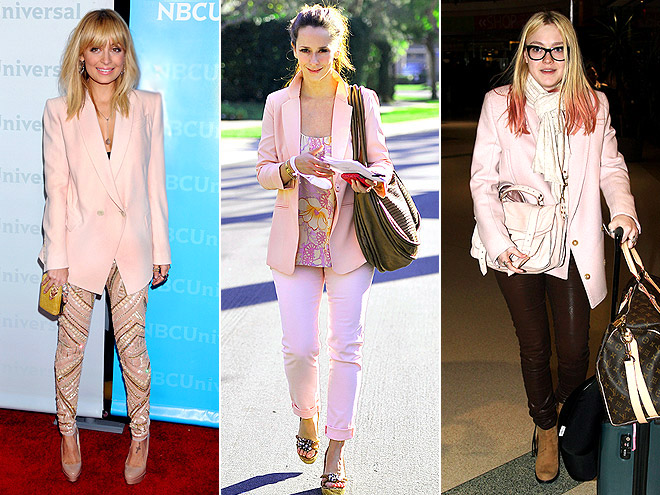 PEACH JACKETS photo | Dakota Fanning, Jennifer Love Hewitt, Nicole Richie