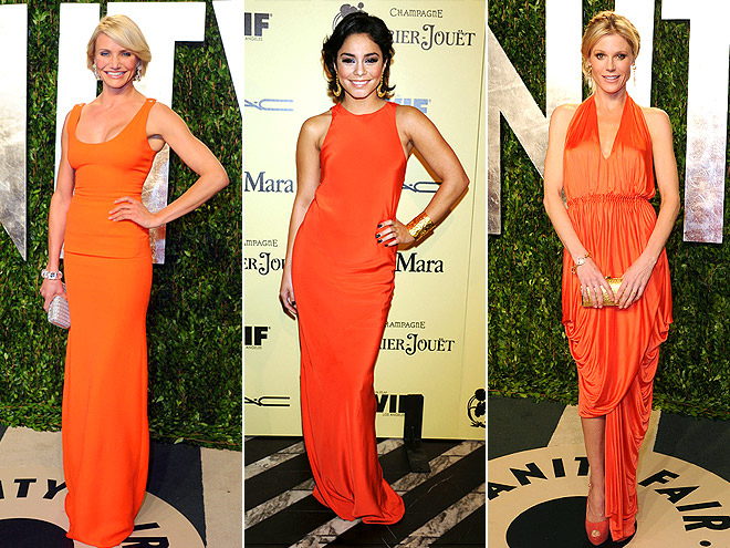 ORANGE GOWNS photo | Cameron Diaz, Julie Bowen, Vanessa Hudgens