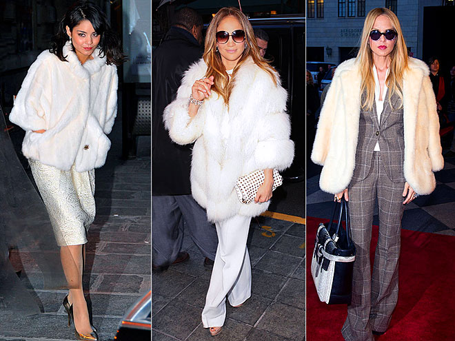WHITE FURRY COATS photo | Jennifer Lopez, Rachel Zoe, Vanessa Hudgens